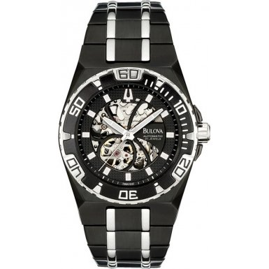 Bulova 98A108 Mens Black Bva Series Watch