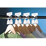 Simple Division Garment Organizers, 12 white Garment Organizers plus 60 Sorting Labels