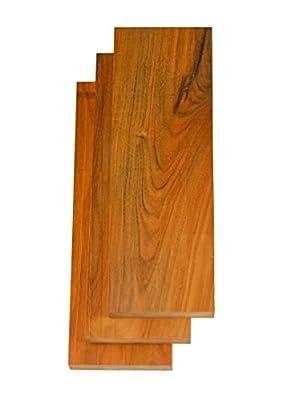 "Orange Heart (Chakte Viga) Wood, 7/8""x4""x24"" 3 Pack"