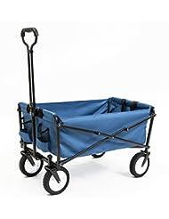 Seina Collapsible Folding Utility Wagon Garden Cart Shopping ...
