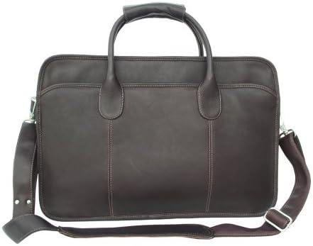 Piel Leather Simple Portfolio, Chocolate, One Size