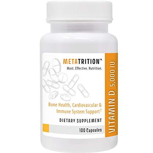 Metatrition Vitamin D 5000iu, 100 Count