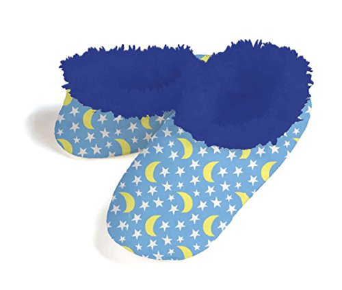 Best snoozies stars and moon sherpa fleece lined slippers for Moon fleece fabric
