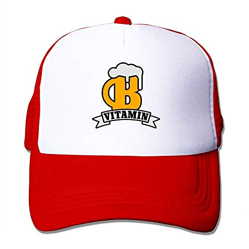 ZOZGETU Beer Vitamin | Vitamin B Big Foam Trucker Baseball Cap Mesh Back Adjustable Cap Baseball Cap