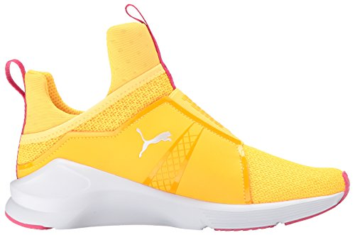 PUMA Women s Fierce Culture SURF Sneaker Ultra Yellow White 75fa05150