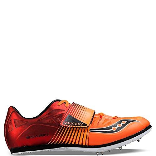 Cheap Saucony Men's Soarin j2 Track Shoe, Red/Vizi Orange, 8.5 M US