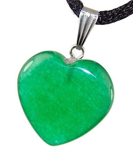Big Heart Collection - 20mm Classic New Jade (Aventurine) Green, 20