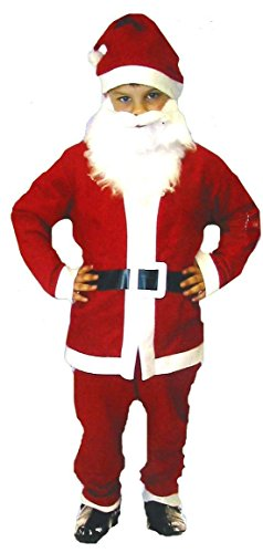Henbrandt Child Christmas Santa Costume age 4-6 Years - Santa Costume Girl