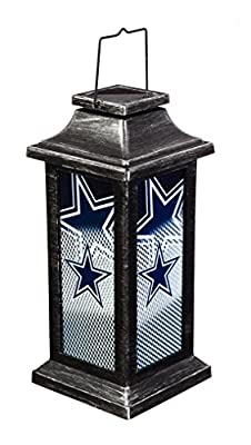 Team Sports America NFL Solar-Powered Outdoor Safe Hanging Garden Lantern