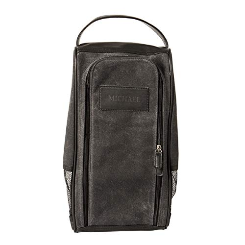 Cathy's Concepts Personalized Waxed Canvas Golf Shoe Bag