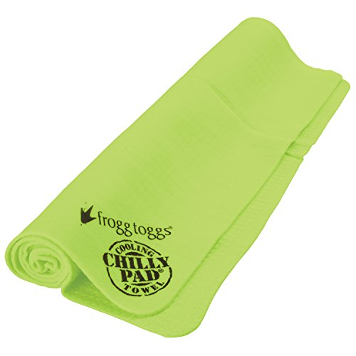 Pva Cooling Towel - Frogg Toggs Chilly Pad Cooling Towel, HiVis Lime Green, Size 33