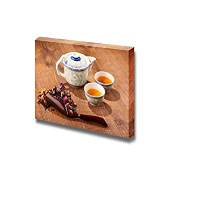 Canvas Prints Wall Art - Tea Ceremony Composition with Hand Fan - 12