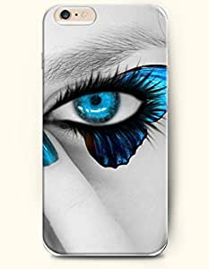OOFIT New Apple iPhone 6 ( 4.7 Inches) Hard Case Cover - Charming Blue Eyes