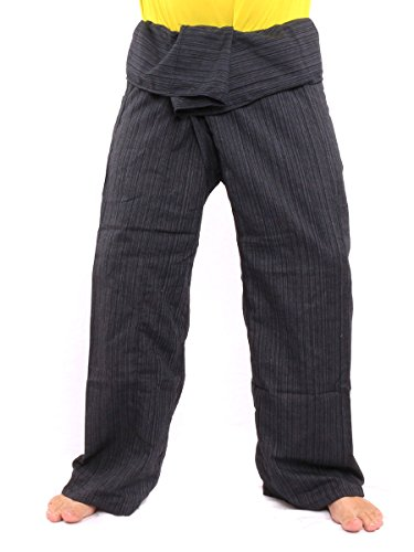 jing shop Thai Fisherman Pants Solid Color Cotton Mix One Size X-Long ()