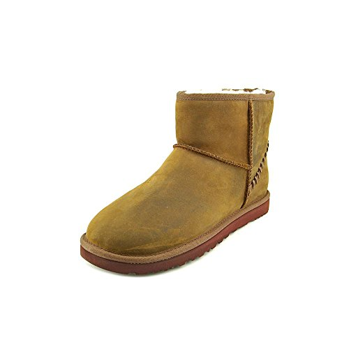 UGG Men's Classic Mini Deco, Chestnut Leather, 12 D - Medium (Ugg Classic Short Best Price)