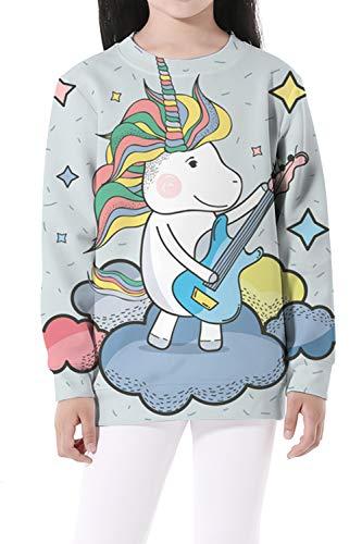 EnlaMorea Kids' Casual Unicorn Hoodie Sweatshirt for Boys Girls,Music Unicorn,11-12 Years by EnlaMorea (Image #1)