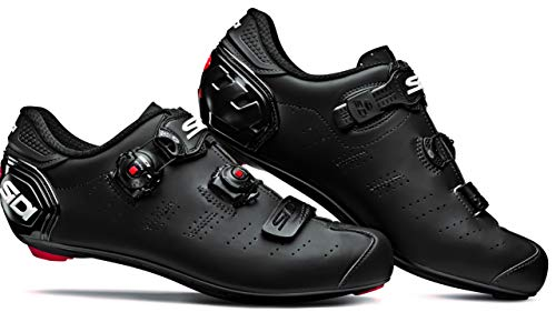Ergo 5 Mega Carbon Road Cycle Shoes (Wide) (45.0 Wide, Matte Black/Black)