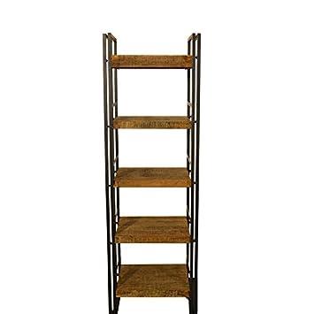 Bcherregal Vintage Massivholz Metall Design Wandregal Raumteiler Wohnzimmer Regal