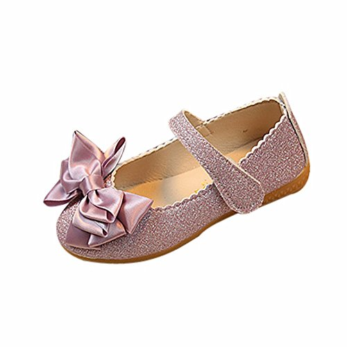 Respctful ♫♫Baby Ballet Dress Shoes Shiny Sequins Dance Ballet Flats Slip On Princess Mary Jane Shoes -