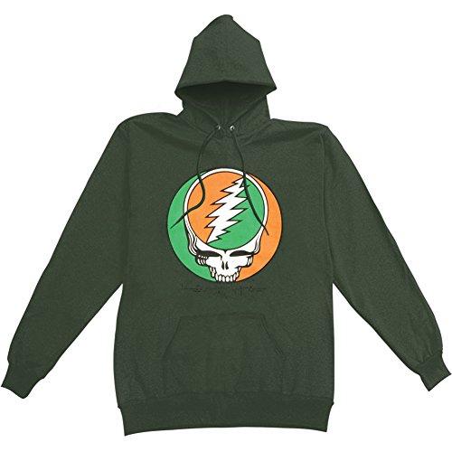 [Grateful Dead Men's Celtic Knot Green Hooded Sweatshirt XX-Large Green] (Grateful Dead Celtic Knot)