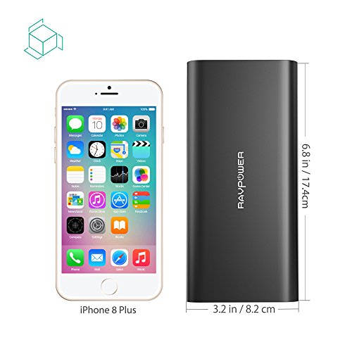 USB C Portable Charger RAVPower 26800mAh Battery Pack with Dual Input Port and Double-Speed Recharging, External Phone Charger 2 USB Ports for iPhone, iPad, Galaxy, Android and other Smart Devices by RAVPower (Image #5)