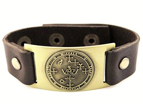 L'Archange Michael Sigil Bracelet, cuir, réglable