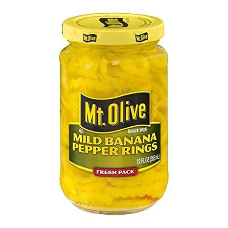 MT. OLIVE Mild Banana Pepper Rings Jar, 12 oz