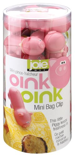 Joie Piggy Wiggy Little Pig Bag Clips, Set of 24 (Pig Clip)