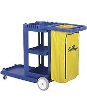 Continental 184BL Standard Janitorial Cart (Blue)