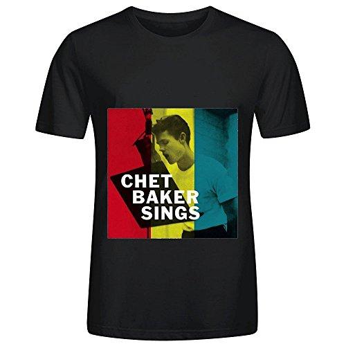 1950s Preppy (Chet Baker Chet Baker Sings Jazz Men O Neck Cotton Shirts Black)