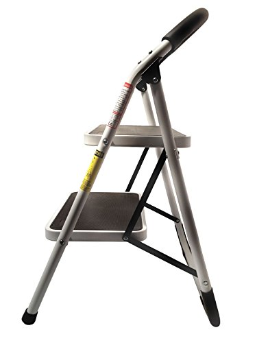 StepUp Heavy Duty Steel Reinforced Folding 2 Step Ladder Stool - 330 lbs Capacity by Step up (Image #1)