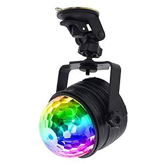 TOOGOO Luces de Escenario de RGB Activado por Sonido Disco Pelota ...