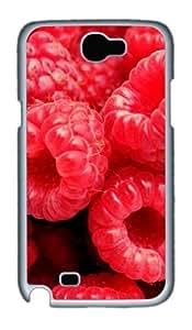 Fresh Strawberry Custom Designer Samsung Galaxy Note 2/Note II / N7100 Case Cover - Polycarbonate - White