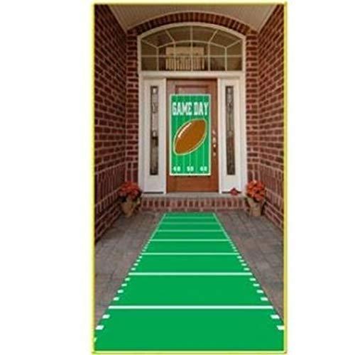 hersrfv home Football Field Polyester Aisle Carpet Runner Football Birthday Party Decorations ()