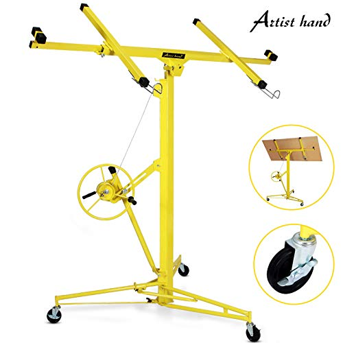 Artist Hand Drywall 16' Lift Hoist Panel Jack Lifter Caster Wheel Construction Tool ()