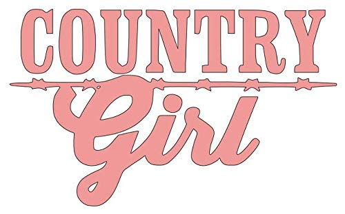(Country Girl - Vinyl Decal Sticker | Multiple Colors | 5.5