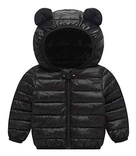 Cherry Jacket Girls - Winter Down Coat for Baby Snow Outerwear Hoodie Down Jacket for Girls Boys Zip Front Down Coat for Winter