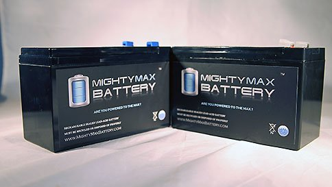 Mighty Max Battery 12V 9Ah Compatible Battery for APC Back-UPS NS1250, NS 1250-2 Pack Brand Product 2 ML9-12 SLA is a 12V 9AH Sealed Lead Acid (SLA) rechargeable maintenance free battery. Pack of 2 Dimensions: 5.94 inches x 2.56 inches x 3.94 inches. Terminal: F2. Listing is for the Battery only. No wire harness or mounting accessories included. SLA / AGM spill proof battery has a characteristic of high discharge rate, wide operating temperatures, long service life and deep discharge recover.