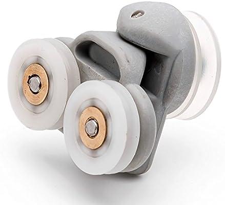 2 x doble de repuesto para mampara de ducha de soportes para cañas de pescar/guías de/ruedas 19 mm acanalado cilindro de L3: Amazon.es: Hogar