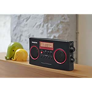 Sangean Portable AM/FM Radio with Digital Tuning and RDS (Black/Red Limited Edition Color)