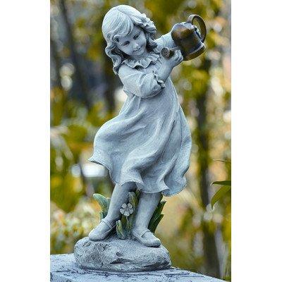 22 Inch Girl w/ Watering Can Garden Figurine by Joseph's Studio 47069 (Figurine Studio)