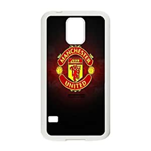 Manchester United Logo Samsung Galaxy S5 Cell Phone Case White xlb-306322