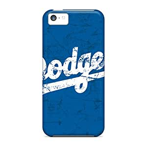 Shock-Absorbing Cell-phone Hard Cover For Iphone 5c (BzX7919lrKf) Provide Private Custom Colorful Los Angeles Dodgers Skin