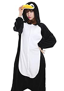 Adrinfly One-piece Pajamas Unisex Costume Adult Animal Onesie Penguin Cosplay