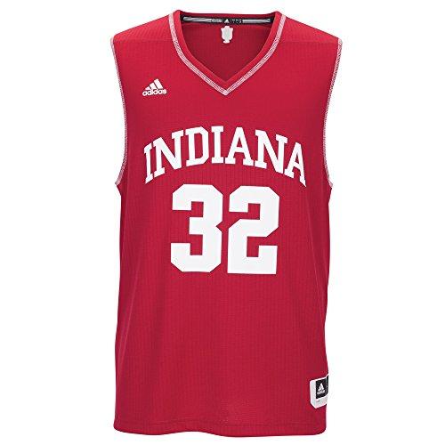 NCAA Indiana Hoosiers Men's Basketball Replica Jersey, XX-Large, Red