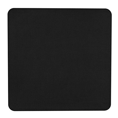 House, Home and More Skid-Resistant Carpet Indoor Area Rug Floor Mat - Black - 3 Feet X 3 Feet (Square Kitchen Rug)