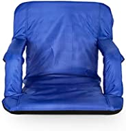 Camco Portable Reclining Stadium Seat for Bleachers with Carry Straps-Water Resistant, Comfortable Cushioned D