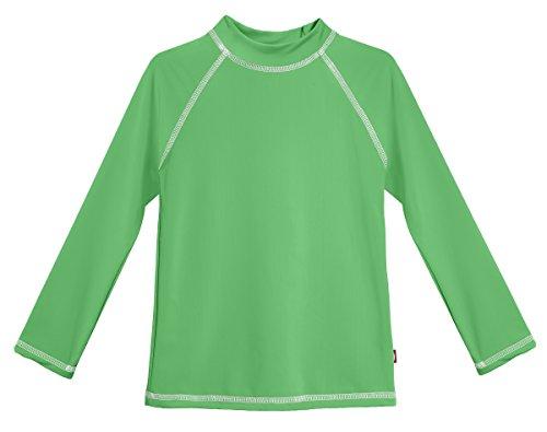 - City Threads LS Little Girls' Rashguard Swimming Suit Swim Tshirt Tee UPF50+ Sun Protection for Beach Pool Summer Fun, LS Elf/White, 5