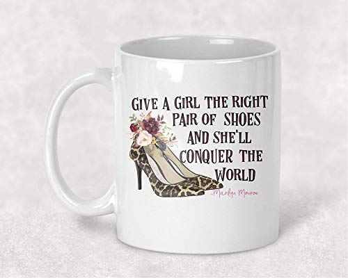Ride Heels (Leopard High Heels, Give a Girl the Right Shoes Marilyn Monroe Coffee Cup Mug Gift for Her)