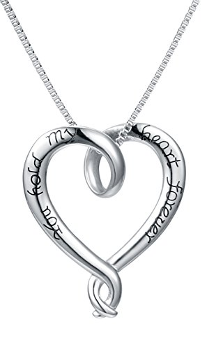 Necklace Engraved Forever Message Stainless